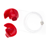 Doc's Proplugs - Vented, Red w/ Leash